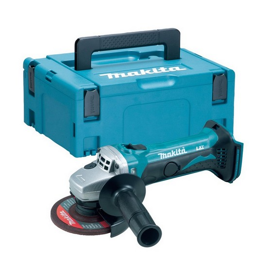 Image of Makita Dga452zj 18v 115mm Angle Grinder Body Only Supplied In Makpac Case