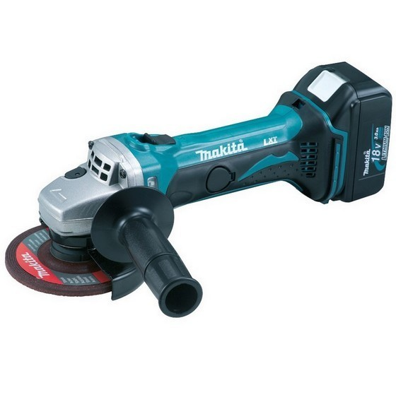 Image of Makita Dga452rtj 18v 115mm Angle Grinder With 2x 50ah Liion Batteries Supplied In Makpac Case
