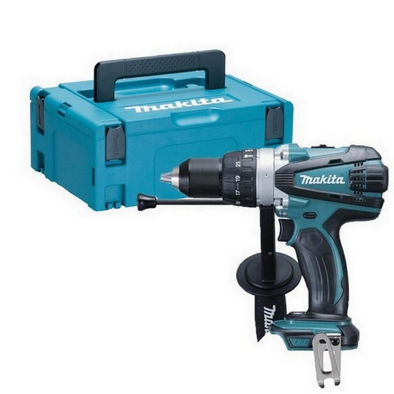 Image of MAKITA DHP458ZJ 18V COMBI HAMMER DRILL BODY ONLY SUPPLIED IN MAKPAC CASE