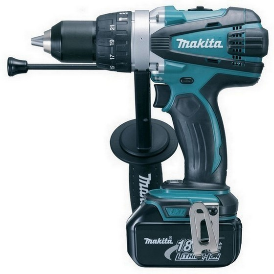 Image of MAKITA DHP458RTJ 18V COMBI HAMMER DRILL WITH 2X 50AH LIION BATTERIES SUPPLIED IN MAKPAC CASE