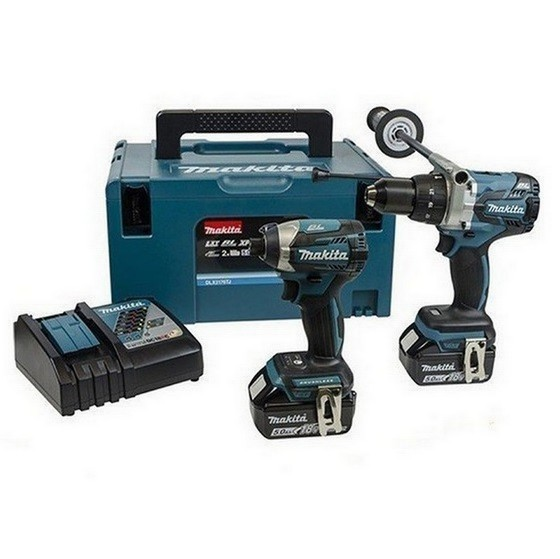 Image of MAKITA DLX2176RFJ 18V BRUSHLESS TWIN PACK WITH 2X 30AH LIION BATTERIES