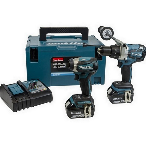 Image of MAKITA DLX2176MJ 18V BRUSHLESS TWIN PACK WITH 2X 40AH LIION BATTERIES