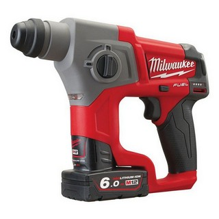 MILWAUKEE M12CH-602 M12 12V FUEL BRUSHLESS COMPACT SDS PLUS HAMMER DRILL WITH 2X 6.0AH LI-ION BATTERIES