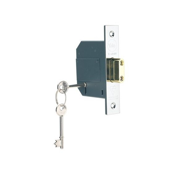 Image of YALE PM562CH67 5 LEVER DEADLOCK 67MM CHROME