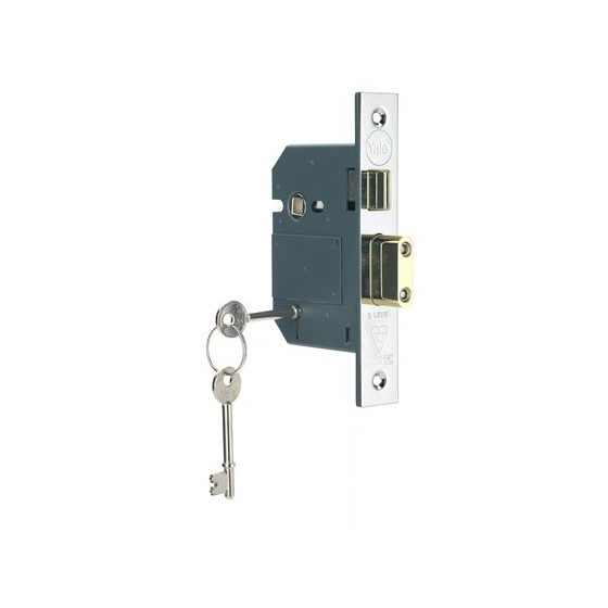 Image of YALE PM560CH80 5 LEVER MORTICE LOCK 75MM CHROME