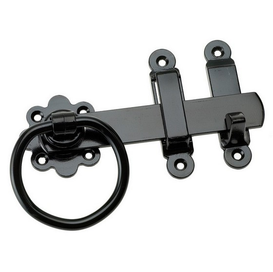 Image of Eliza Tinsley 4157763pp Gate Ring Latches 150mm Black