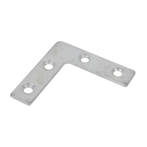 JG 324 CORNER REPAIR PLATE FLAT 63MM BRIGHT ZINC PLATED Sometimes known as an angle plate Used for strengthening corner pieces of timber Predrilled fo