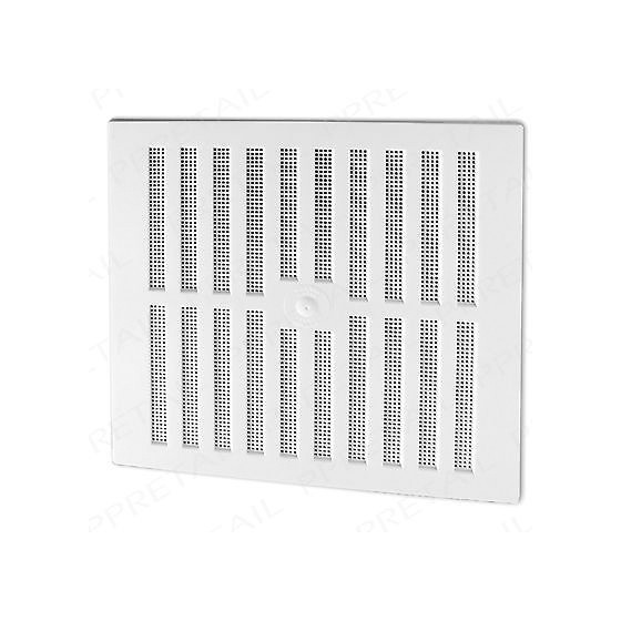 Image of MAP HARDWARE 90902 ADJUSTABLE HIT AND MISS VENT WITH FLYSCREEN 229X229MM WHITE