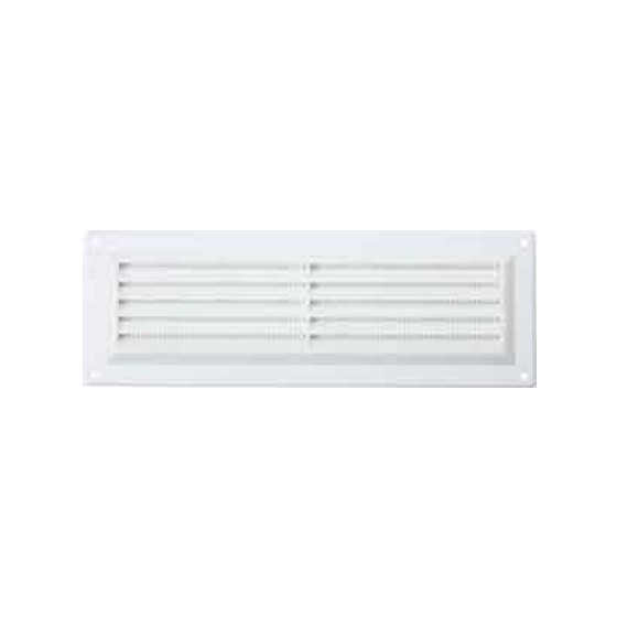 Image of Map Hardware 92302 Surface Mounted Louvre Vent With Flyscreen 76x229mm White