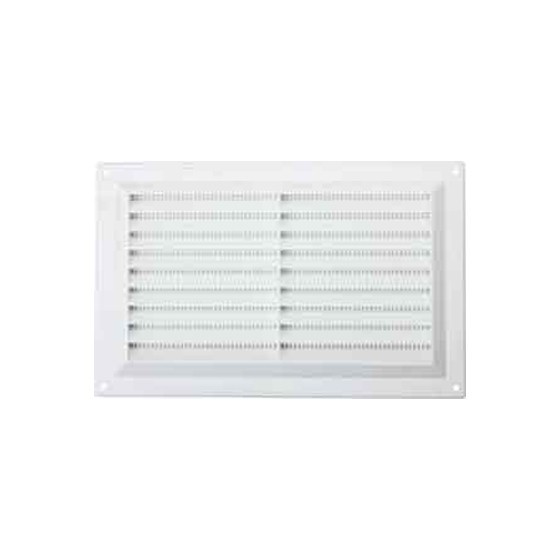 Image of MAP HARDWARE 92602 SURFACE MOUNTED LOUVRE VENT WITH FLYSCREEN 152X229MM WHITE