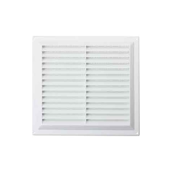 Image of MAP HARDWARE 92902 SURFACE MOUNTED LOUVRE VENT WITH FLYSCREEN 229X229MM WHITE