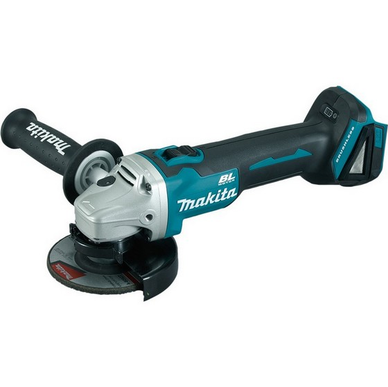 Image of Makita Dga456z 18v 115mm Brushless Angle Grinder With Slide Switch Body Only