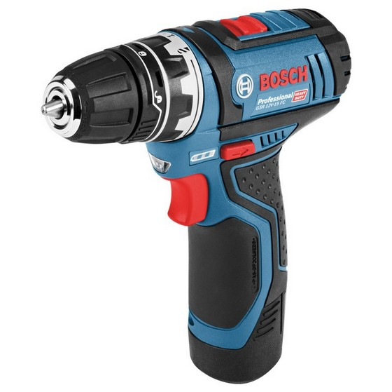 Image of BOSCH GSR12V15FC 12V FLEXICLICK DRILL DRIVER INCLUDES GFA CHUCK 2X 20AH LIION BATTERIES