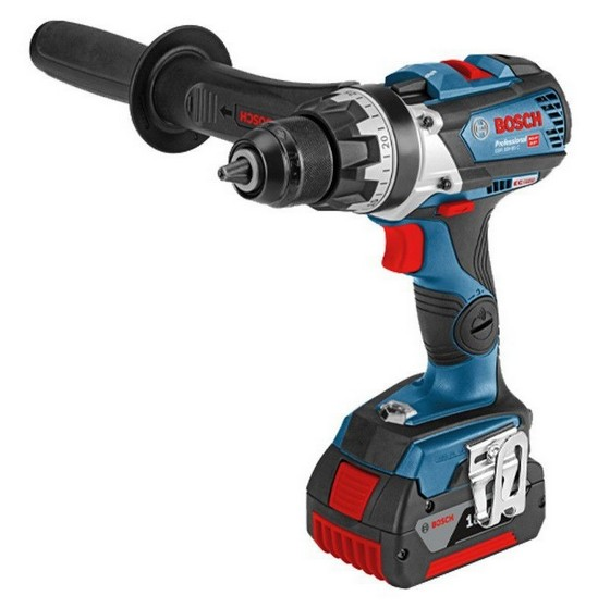 Image of BOSCH GSR18V85C 18V DRILL DRIVER CONNECTIVITY READY 2X 50AH LIION BATTERIES