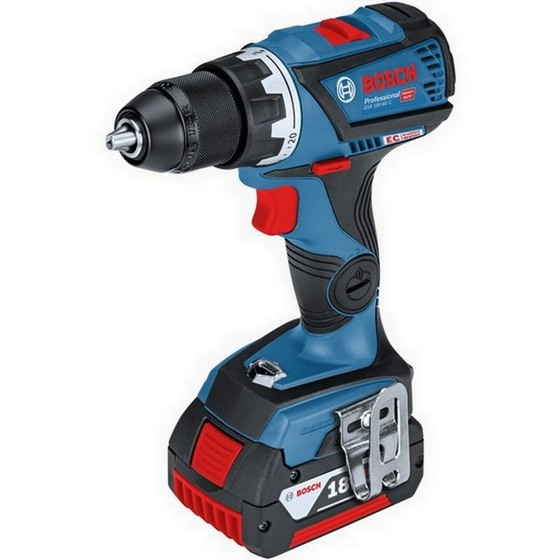 Image of BOSCH GSB18V60C 18V COMBI HAMMER DRILL CONNECTIVITY READY 2X 50AH LIION BATTERIES