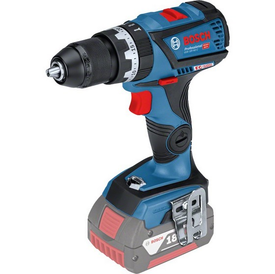 Image of BOSCH GSB18V60C 18V COMBI HAMMER DRILL CONNECTIVITY READY BODY ONLY SUPPLIED IN LBOXX