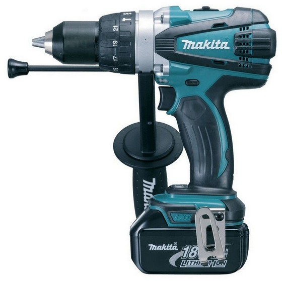 Image of MAKITA DHP458RF3J 18V COMBI HAMMER DRILL 3X 30AH LIION BATTERIES SUPPLIED IN MAKPAC CASE