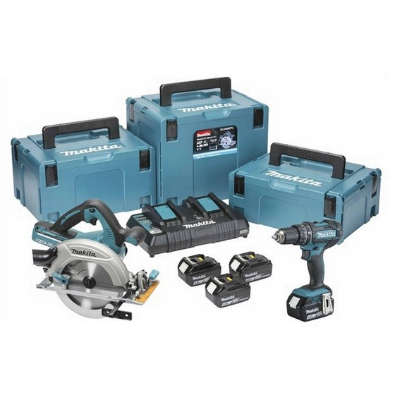 Image of MAKITA DLX2140PMJ 18V TWIN PACK WITH 4X 40AH LIION BATTERIES