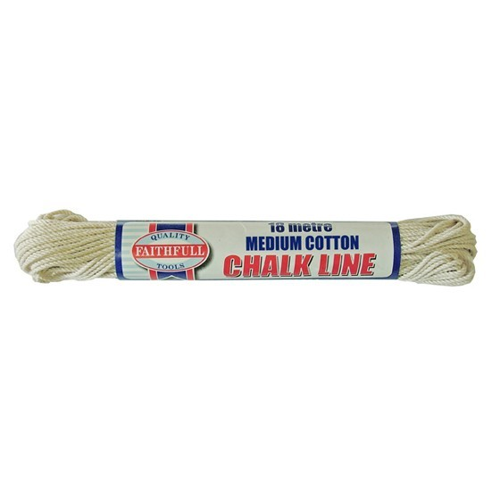 Image of Faithfull Fai303 Medium Cotton Chalk Line 18 Metre