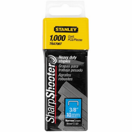 Image of STANLEY STA1TRA706T HEAVY DUTY SHARP SHOOTER STAPLES 10MM PACK OF 1000
