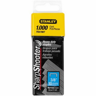 STANLEY STA1TRA706T HEAVY DUTY SHARP SHOOTER STAPLES 10MM (PACK OF 1000)