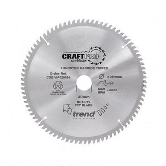 Image of TREND CSBAP16548 CRAFT SAW BLADE ALUMINIUM AND PLASTIC 165MM X 48T X 20MM