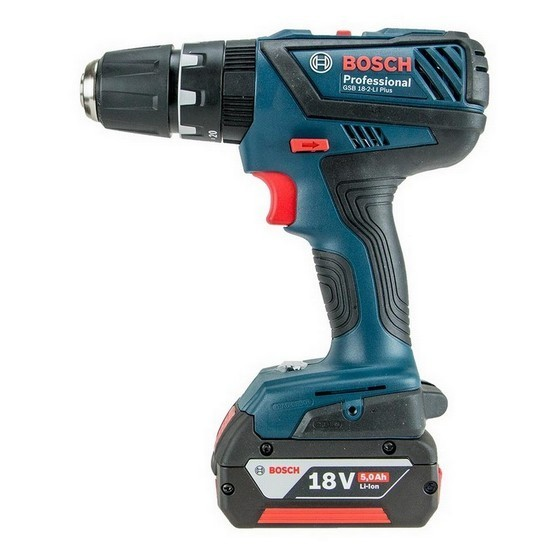 Image of BOSCH GSB182LI PLUS 18V COMBI HAMMER DRILL SUPPLIED IN LBOXX WITH 1X 50AH LIION BATTERY