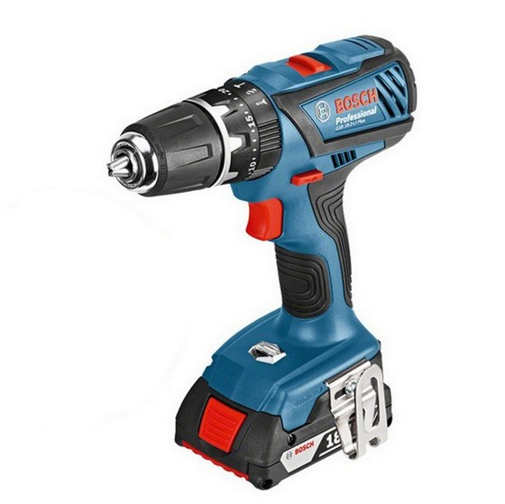 Image of BOSCH GSB182LI PLUS 18V COMBI DRILL LIGHTSERIES WITH 2X 20AH LIION BATTERIES IN LBOXX
