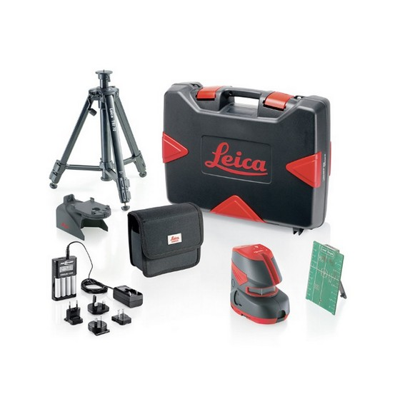 LEICA L2G CROSS LINE LASER GREEN BEAM KIT WITH CASE AND TRIPOD