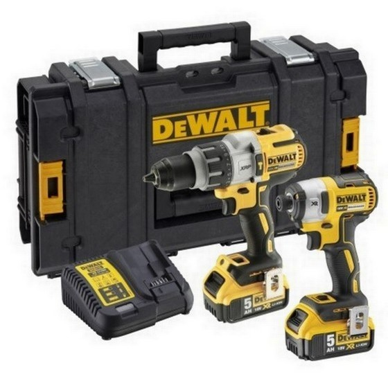 Image of Dewalt Dck276p2 18v Brushless Combi Hammer & Impact Driver Twin Pack 2 X 50ah Liion Batteries