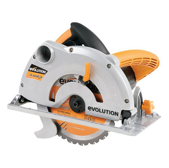 Image of EVOLUTION RAGE 1B 185MM MULTIPURPOSE CIRCULAR SAW 110V
