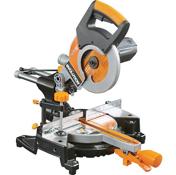 Image of EVOLUTION RAGE 3S 210MM MULTIPURPOSE SLIDING MITRE SAW 110V