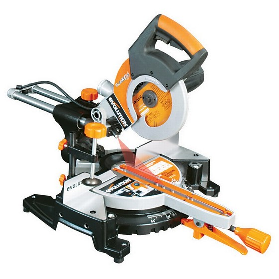 Image of EVOLUTION RAGE 3S300 210MM MULTIPURPOSE SLIDING MITRE SAW 110V