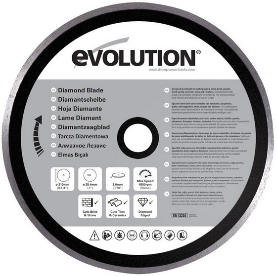 Image of Evolution Diamond Blade 210mm