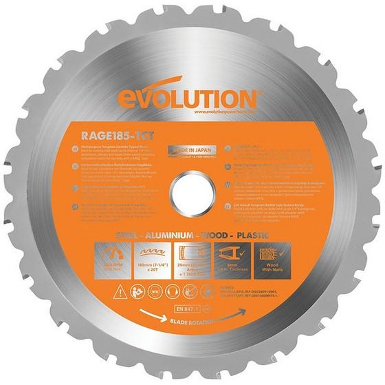 Saw Accessories EVOLUTION MULTIPURPOSE BLADE 185MM