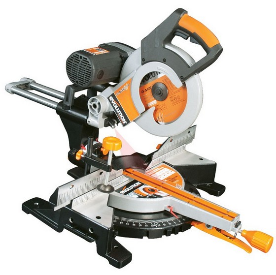 Sawing EVOLUTION RAGE 3DB 255MM MULTIPURPOSE SLIDING MITRE SAW 240V