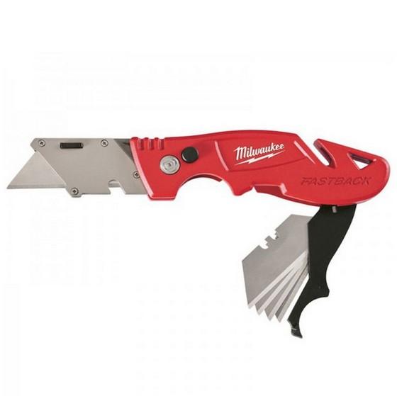 Image of MILWAUKEE 48221903 FASTBACK FLIP UTILITY KNIFE WITH BLADE STORAGE