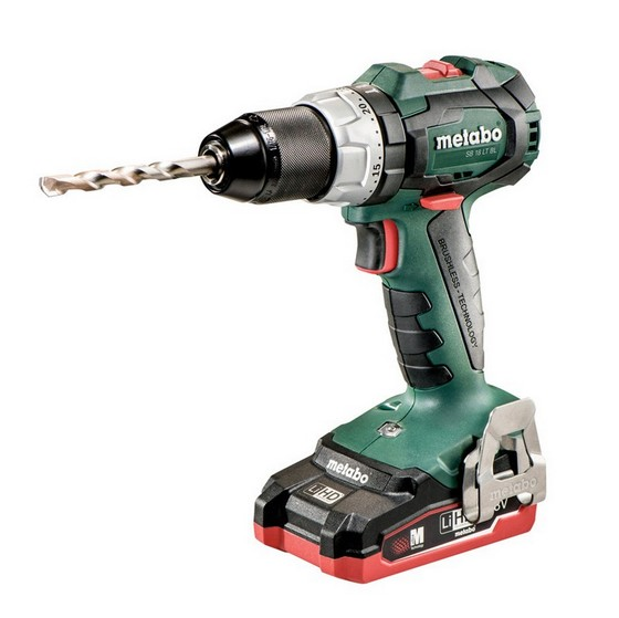 Image of Metabo Sb18ltbl 18v Brushless Combi Hammer Drill 2x 31ah Lihd Batteries