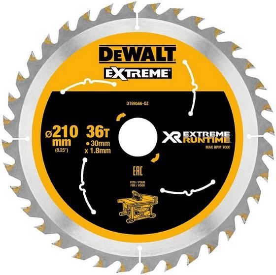 Image of DEWALT DT99566QZ XR FLEXVOLT SAW BLADE 210MM X 30MM 36T
