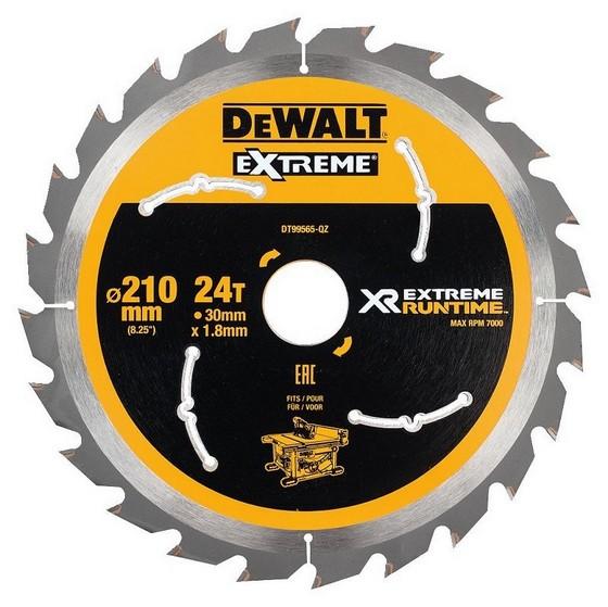 Image of DEWALT DT99565QZ XR FLEXVOLT SAW BLADE 210MM X 30MM 24T