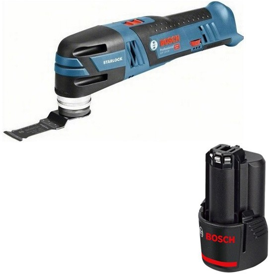 Image of BOSCH GOP12V28 12V BRUSHLESS STARLOCK MULTI TOOL WITH ACCESSORY BODY ONLY