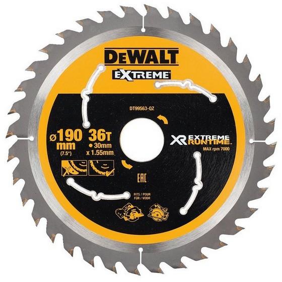 Image of DEWALT DT99563QZ XR FLEXVOLT SAW BLADE 190MM X 30MM 36T