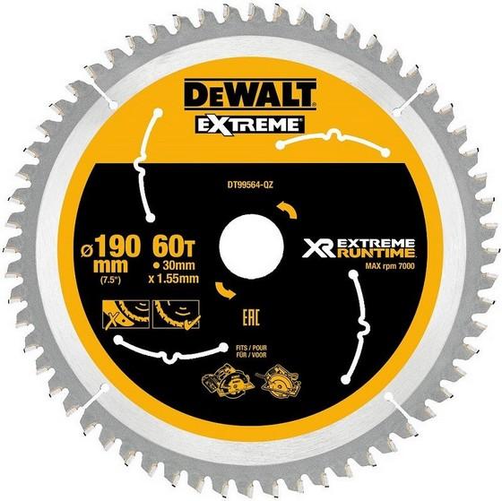 Image of DEWALT DT99564QZ XR FLEXVOLT SAW BLADE 190MM X 30MM 60T