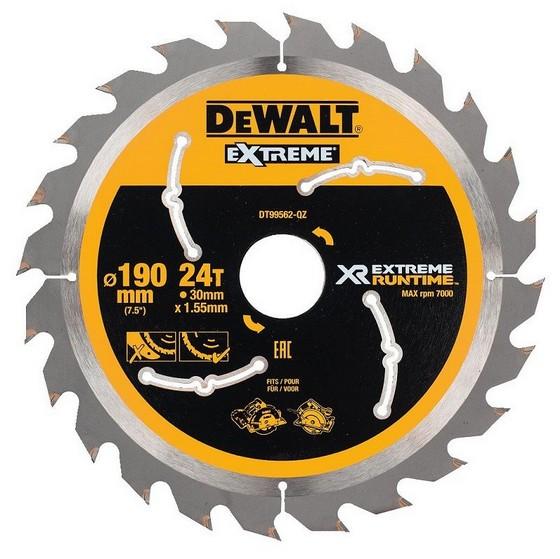 Image of DEWALT DT99562QZ XR FLEXVOLT SAW BLADE 190MM X 30MM 24T