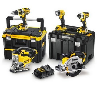 DEWALT DCK550M3T 18V XR 5 PIECE TSTAK KIT WITH 3X 4.0AH LI-ION BATTERIES