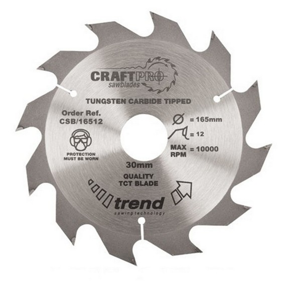 Image of TREND CSB19012 CRAFT SAW BLADE 190MM X 12T X 30MM