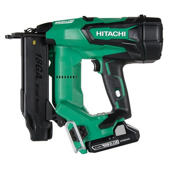 Image of HITACHI NT1850DBSLJM 18V 18 GAUGE BRUSHLESS 2ND FIX STRAIGHT NAILER WITH 2X30AH LIION BATTERIES