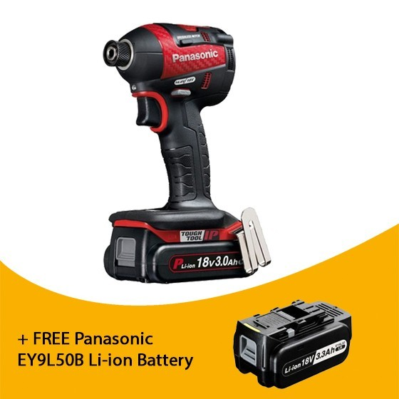 Image of PANASONIC EY75A7PN3G31R 18V BRUSHLESS IMPACT DRIVER DESIGN EDITION 3 X 30AH LIION BATTERIES