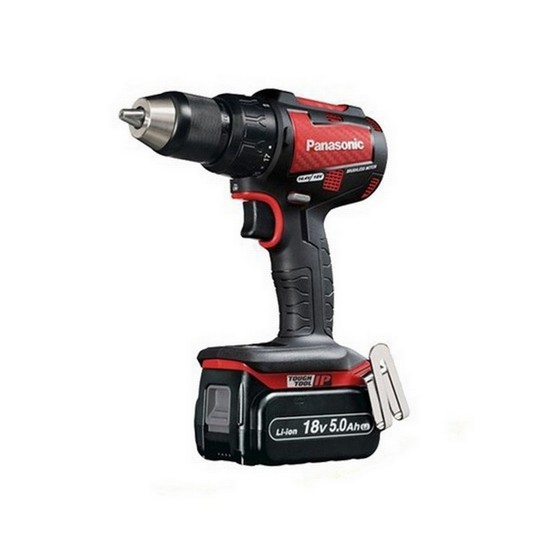 Image of PANASONIC EY79A2LJ2G31R 18V BRUSHLESS COMBI DRILL DESIGN EDITION WITH 2X50AH LIION BATTERIES