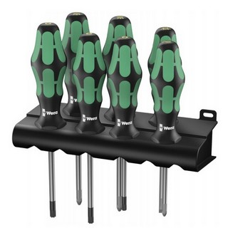 wera 335 350 367 7 kraftform plus lasertip screwdriver set sl ph pz tx 7pc. Black Bedroom Furniture Sets. Home Design Ideas